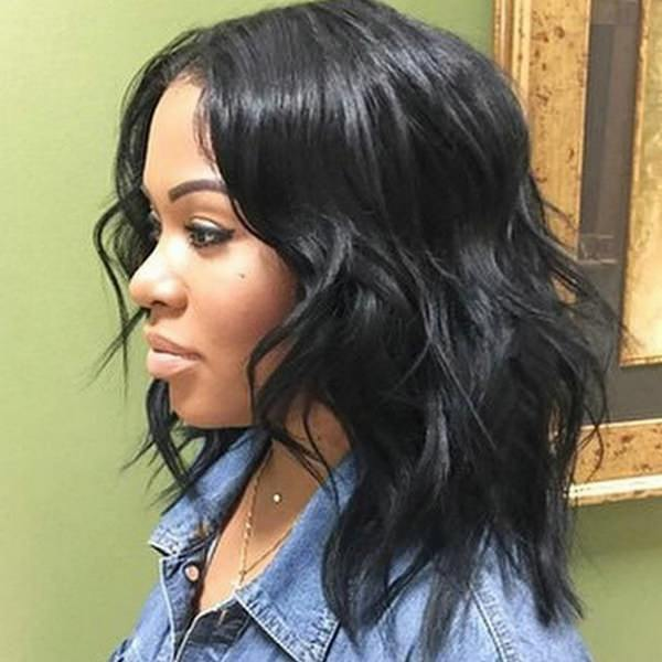 Long Hairstyles For Black Women With Bangs 26