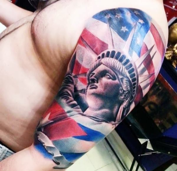 125 American Flag Tattoo Designs With Emotional And