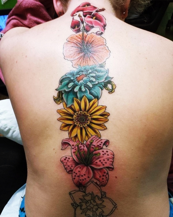Back Spine Tattoos for Women and Men