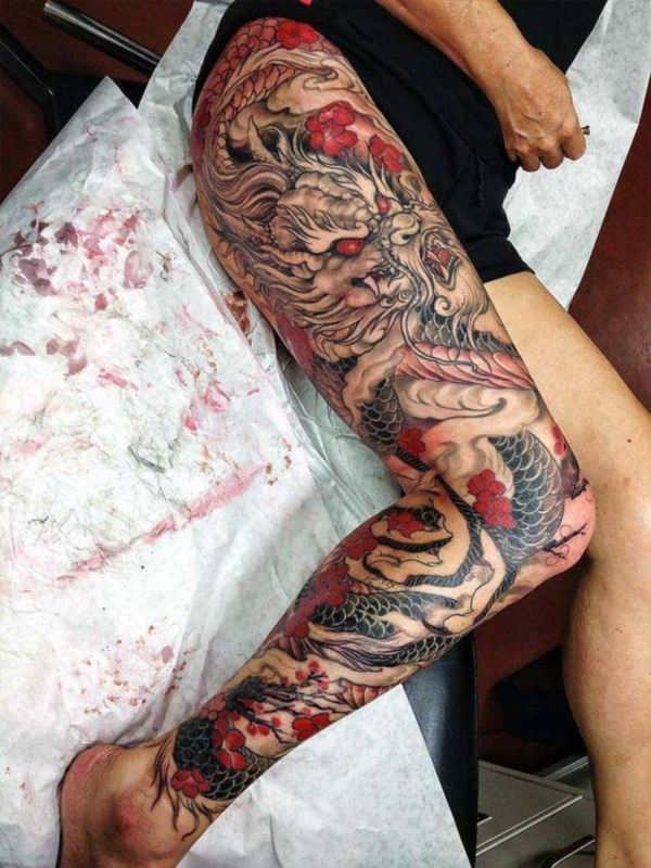 70 Chinese and Japanese Dragon Tattoo Designs and their
