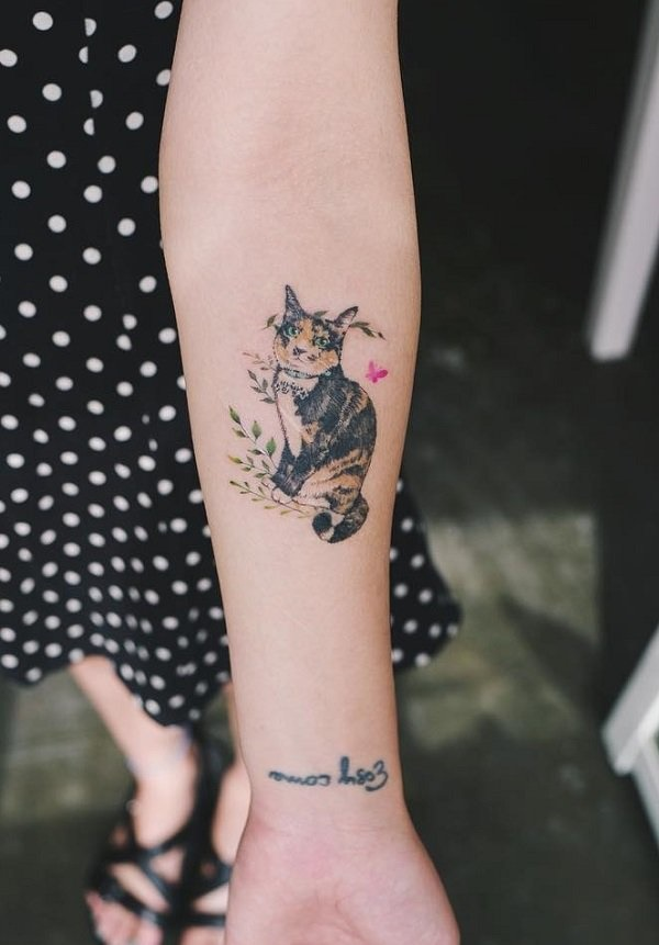 70e91a1501a9d And in regards to cute cat tattoos, you won't be able to miss out on your  tattoo's placement. A finger tattoo is also nice just because of their  small size.