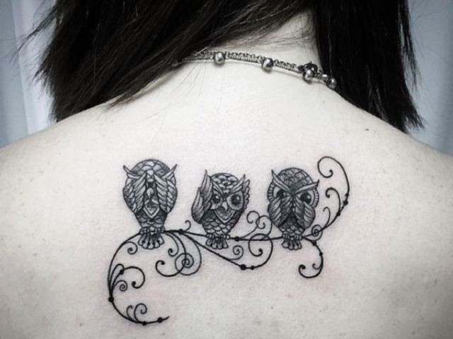 a4f31a135 175 Cute and Traditional Owl Tattoo Designs with their Meanings