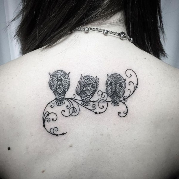 d82618e62 175 Cute and Traditional Owl Tattoo Designs with their Meanings