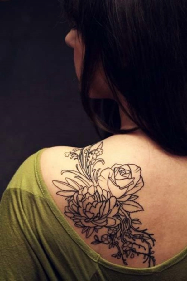 eae145498082a Outline tattoos pretty much make any design look airy and light, as if it  were only projected onto the wearer's body. You can also accompany this  with ...