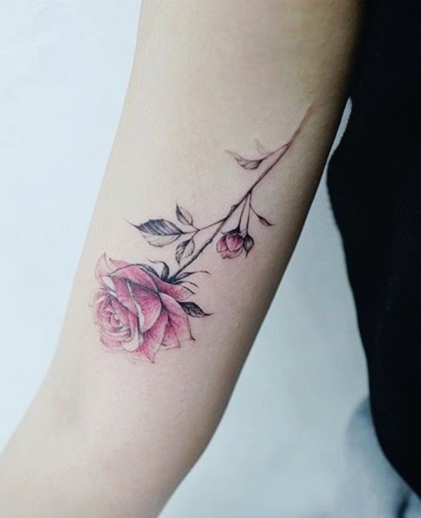Rose Tattoos For Woman: 70 Beautiful Rose Flower Tattoo Ideas For Women
