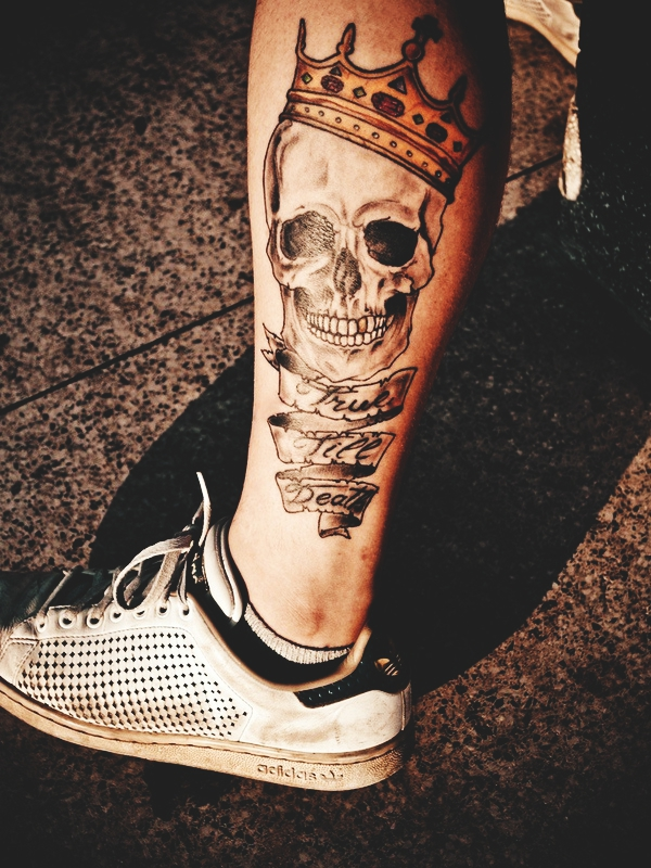 d17bd4c16 ... loads of women have added a bit of a feminine touch to their tattoos as  well by incorporating things such as heart-shaped eye sockets, flower  crowns, ...