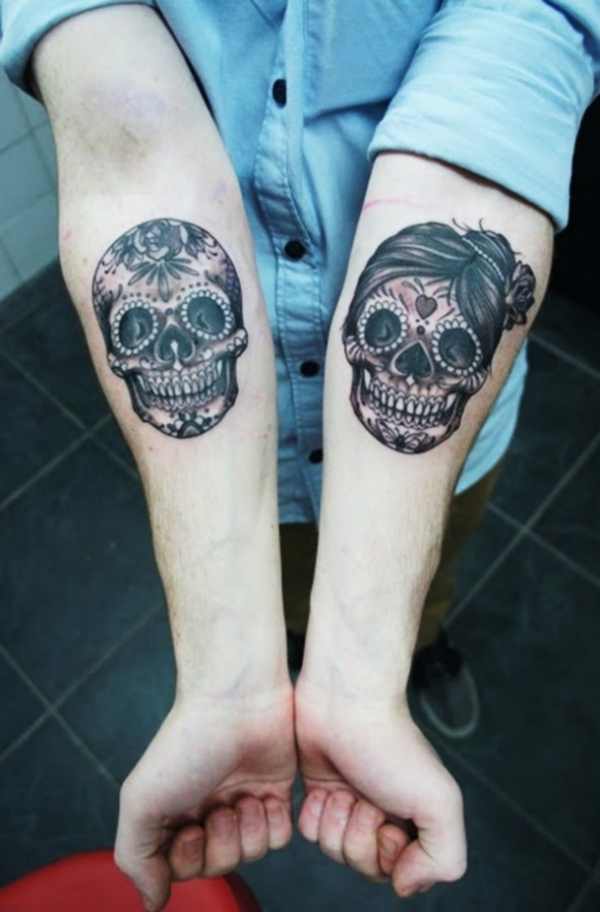 777d5a9cb If you prefer tiny skull tattoos instead, then go for the wrist. Thanks to  the small area of skin surrounding the wrists, your tattoo will look twice  as ...