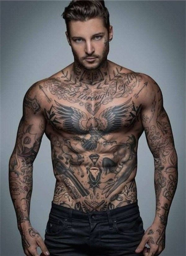 Attractive Small Chest Tattoos For Men With Meaning