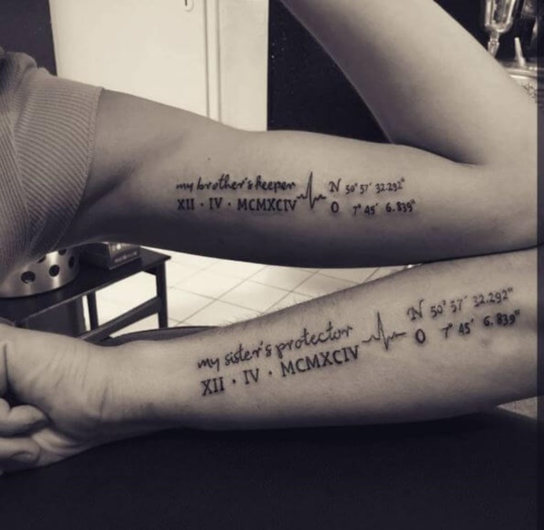 Beroemd 155+ Unique Brother Sister Tattoos to try with Love - Reachel #VX36