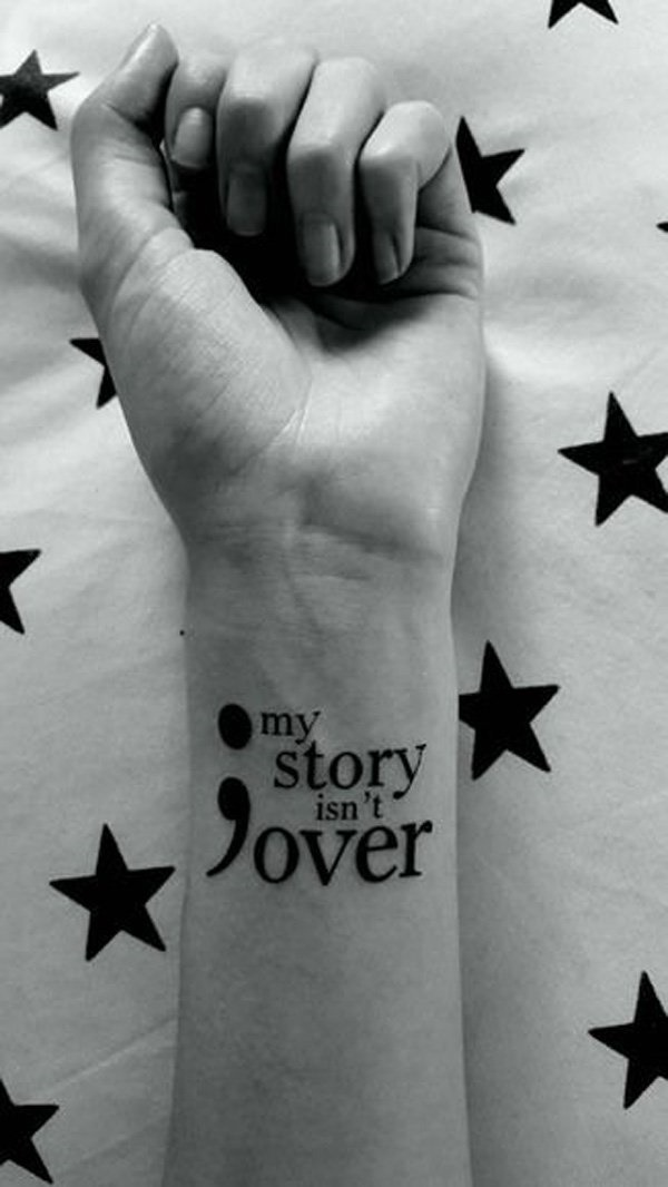 28947330f5c6c Nowadays, the semicolon is mostly seen as a symbol of survival and hope. It  was the result of an awareness movement known as Project Semicolon.