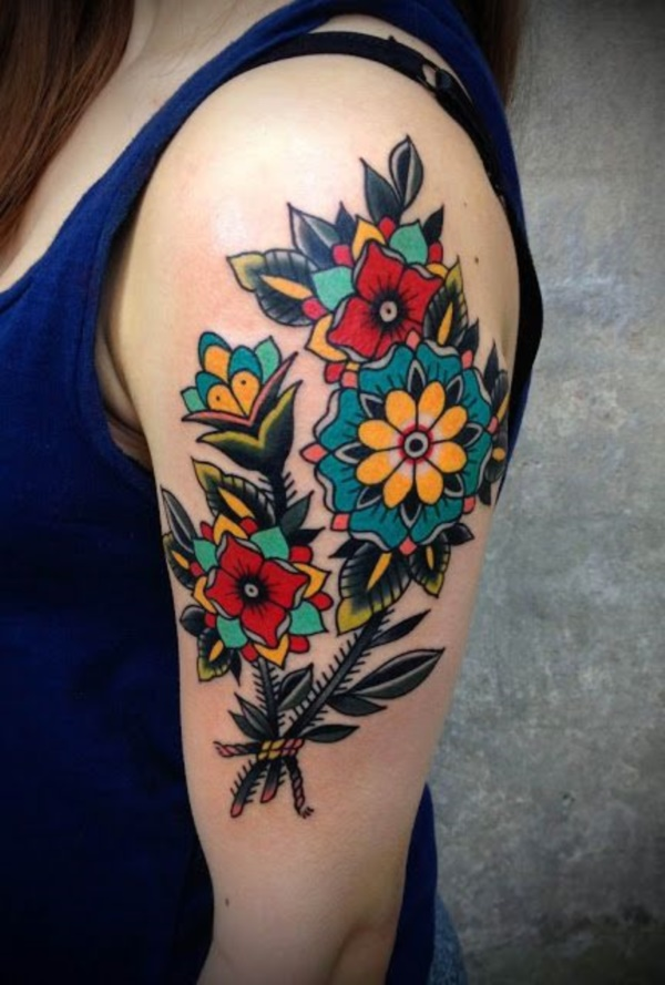 Traditional Flower Tattoos: 70 Meaningful Traditional Tattoo Designs