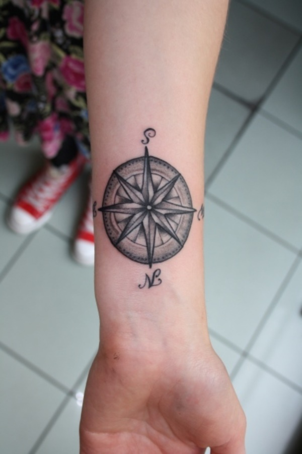 175 Simple Compass Tattoos To Stay In Right Path