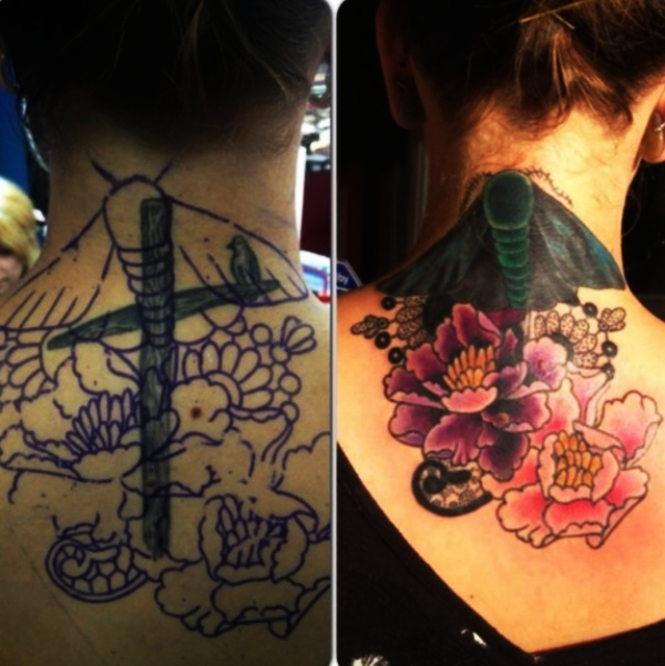 521f97125 70 Cover Up Tattoo Ideas Before and After