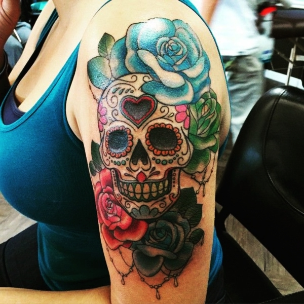125 Grunge Sugar Skull Tattoo Designs For Men And Women