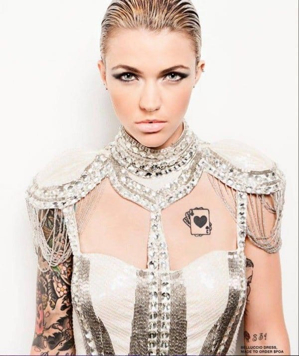 f81b83d0c 30+ Ruby Rose Tattoos to Build Your Celebrity Style