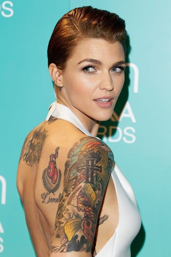 19b4735a4 A model with a personal style. Ruby Rose tattoos ...