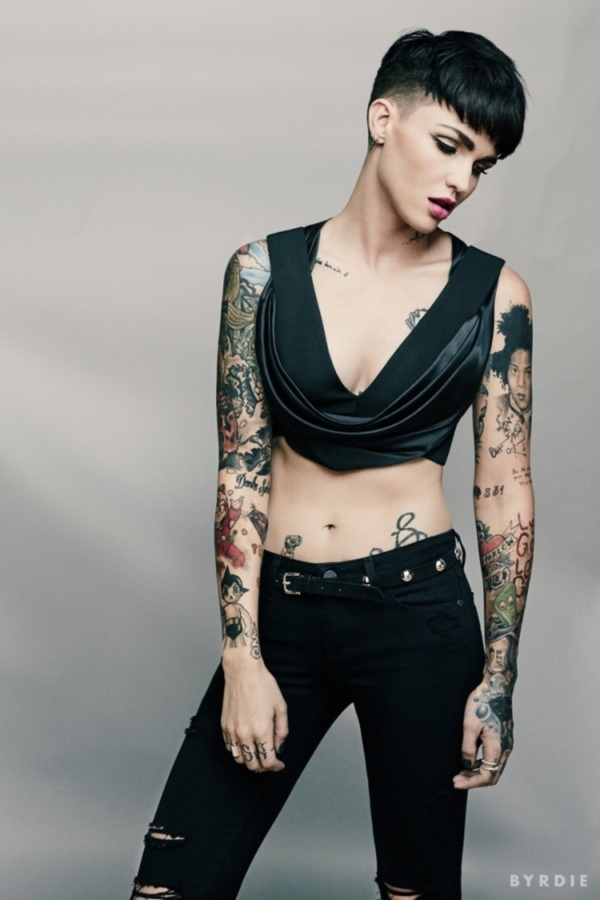4c311114b Overview image of this star's body treated as a canvas. When you look at Ruby  Rose tattoos ...