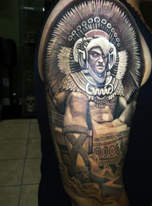 18eda3493 80 Aztec Tattoos Symbols and Meanings that're really Great