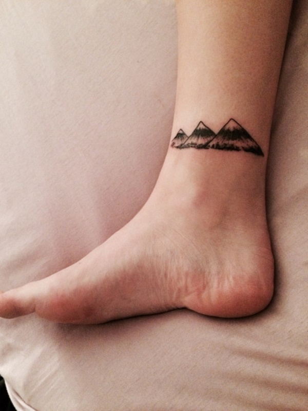 328ab186ee40a Mountain tattoos are a more natural alternative to skyline tattoos and  relive memories of camping and trekking.