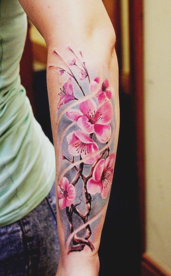 ae4de42bacc82 50+ Japanese Cherry Blossom Tattoos You Should Get This Spring