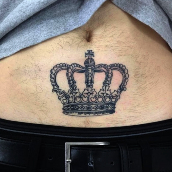 70 jaw dropping side and lower stomach tattoos for both for Crown tattoos on lower back