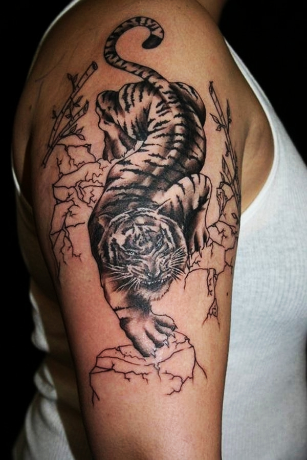 9884236c2 80 Masterful Tiger Tattoos to Make you Queen or King of the Urban Jungle