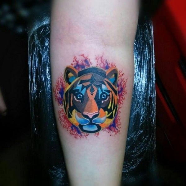 4ae64648554ea 80 Masterful Tiger Tattoos to Make you Queen or King of the Urban Jungle