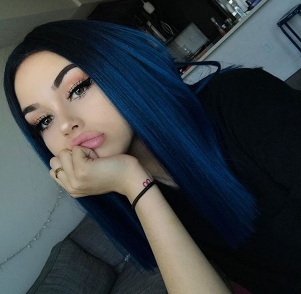 Pretty Girls With Blue Hair 110 Blue Black ...