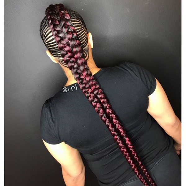 Do The Regular Feed Iniding On Both Sides Until You Finish All The Four Sections Tie The Ends Of Theids Into A Bun Or Make It Into Something Like A