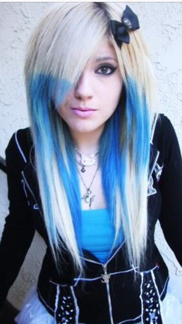 Emo girls with blonde hair