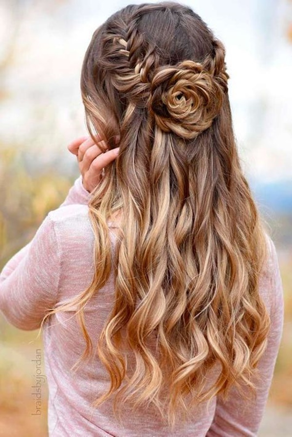 125 Beautiful Half Up Half Down Hairstyles